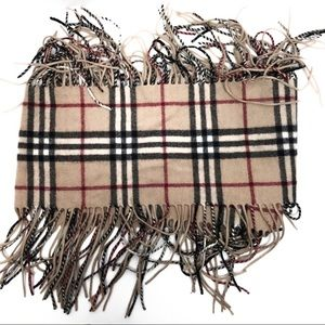 BURBERRY LONDON | Happy Fringe 100% cashmere scarf
